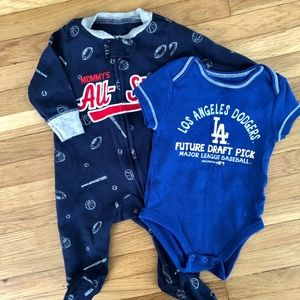 Two piece onesie and sleeper